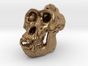 Gorilla Skull in Natural Brass