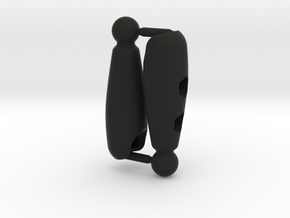 Shaped Thigh Set for ModiBot in Black Premium Versatile Plastic