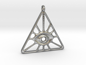 Illuminati Pendant in Natural Silver