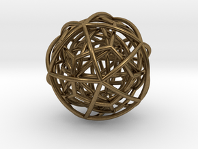 pendant platon interlocked in Natural Bronze (Interlocking Parts)