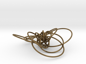 pendant p c geodesics closed interlocked in Natural Bronze (Interlocking Parts)