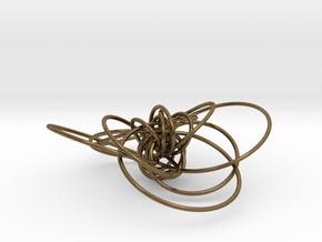 pendant p c geodesics closed + interlocked in Natural Bronze (Interlocking Parts)