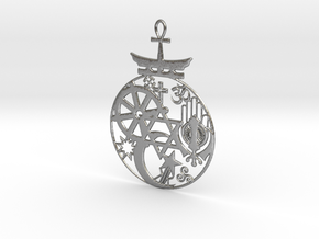 Religions Pendant in Natural Silver
