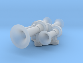 1/14 Train Airhorn 5-Chime Type A in Smooth Fine Detail Plastic