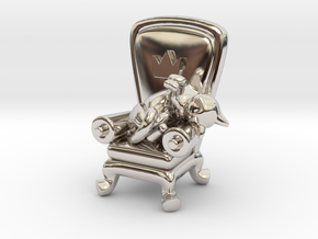 A Royal Catnap in Rhodium Plated Brass