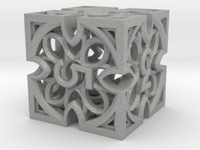 Gothic Rosette d6 in Aluminum