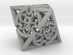 Gothic Rosette d8 in Aluminum