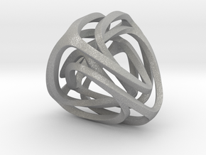 Twisted Tetrahedron (Thin) in Aluminum: Small