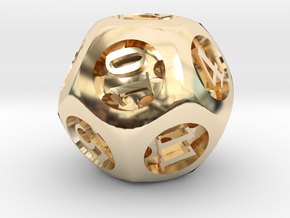 Overstuffed d12 in 14K Yellow Gold