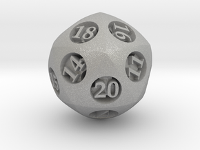 Overstuffed d20 in Aluminum