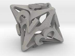 Pinwheel d8 in Aluminum
