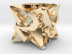 Pinwheel Die6 in 14K Yellow Gold