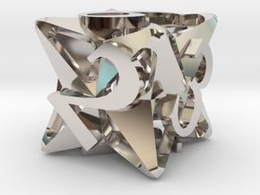 Pinwheel d6 in Platinum