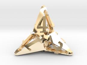 Pinwheel d4 in 14K Yellow Gold