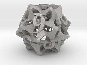 Pinwheel d12 in Aluminum