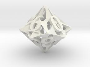 Pinwheel Die10 in White Premium Versatile Plastic