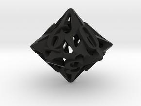 Pinwheel Die10 in Black Premium Versatile Plastic