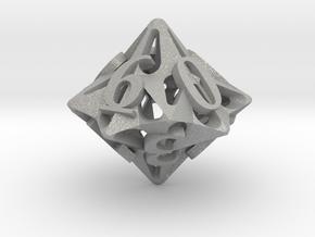 Pinwheel d10 in Aluminum