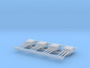 Triple Turret set for Bismarck or Tirpitz in Smooth Fine Detail Plastic