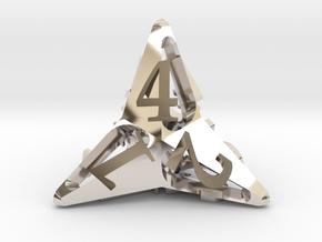 Pinwheel d4 Ornament in Platinum