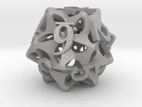 Pinwheel d12 Ornament in Aluminum