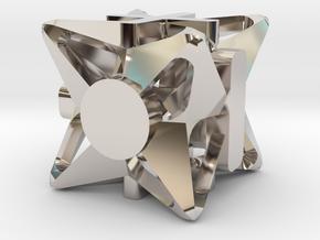 Fudge Pinwheel d6 in Platinum