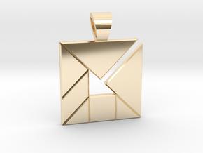 Inner Arrow tangram [pendant] in 14K Yellow Gold