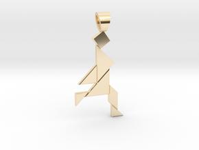 Jogger tangram [pendant] in 14K Yellow Gold