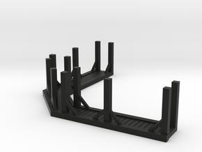 HO Scale Saloon - Awning in Black Premium Versatile Plastic