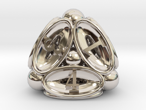 Spore d4 in Rhodium Plated Brass