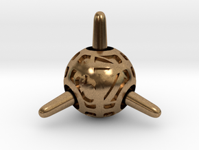 Sputnik d4 in Natural Brass