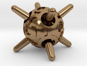 Sputnik d6 in Natural Brass