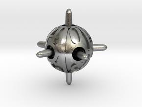 Sputnik d10 in Natural Silver