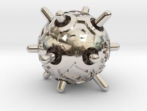 Sputnik d12 in Rhodium Plated Brass