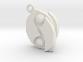 Seal of Mar keychain in White Natural Versatile Plastic