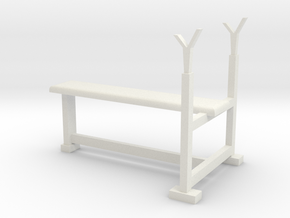 Bench press pen holder in White Natural Versatile Plastic