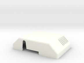 Thermostat Cover in White Processed Versatile Plastic