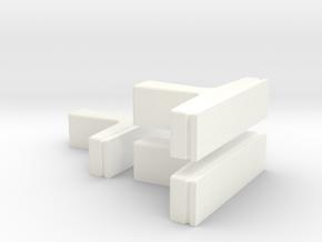 3 t greeblies in White Processed Versatile Plastic