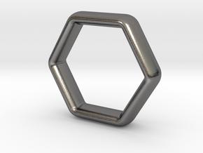 Hexi Wedding Ring US Size 10 (UK Size U) in Polished Nickel Steel
