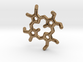 Octaethylporphyrin pendant in Natural Brass