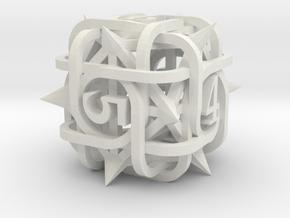 Thorn Die6 in White Premium Versatile Plastic