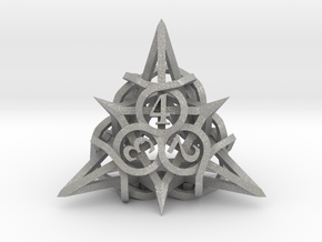 Thorn d4 Ornament in Aluminum