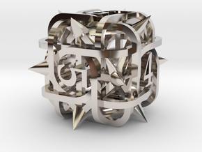Thorn d6 Ornament in Platinum