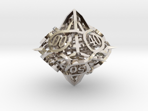 Thorn d10 Decader Ornament in Platinum