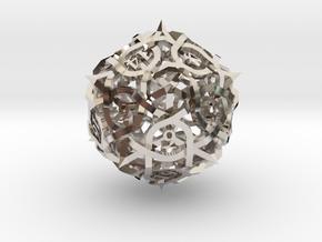Thorn d20 Ornament in Platinum
