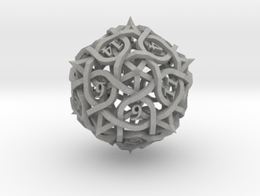 Thorn Die20 Ornament in Aluminum