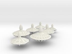 Top Dice Set with Decader in White Premium Versatile Plastic