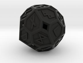 Elder Futhark Die24 in Black Premium Versatile Plastic