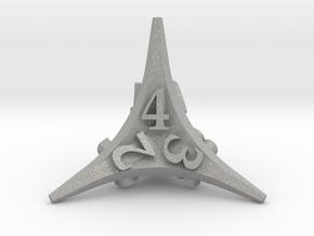 Caltrop Die4 in Aluminum