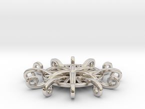 Tentacle Rosette Pendant in Platinum